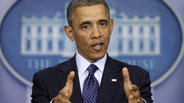 """President Obama speaks to reporters Friday at the White House after he met with congressional leaders regarding the sequester. """"Even with these cuts in place, folks all across this country will work hard to make sure that we keep the recovery going,"""" said Obama. """"But Washington sure isn't making it easy."""""""