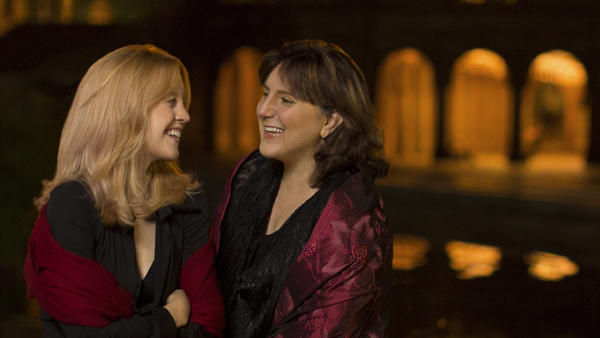 Jazz composer Maria Schneider (left) and soprano Dawn Upshaw collaborated on the new album <em>Winter Morning Walks</em>.