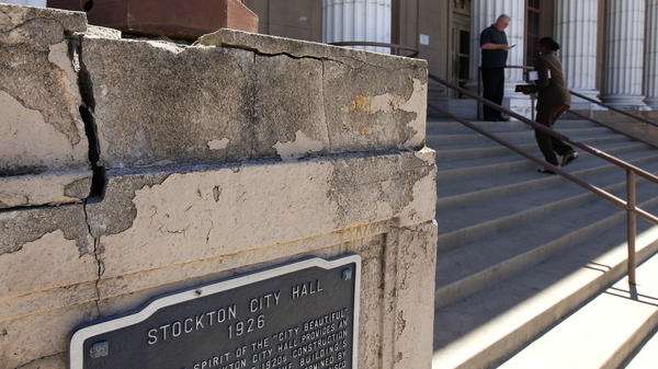 A judge accepted the California city of Stockton's bankruptcy application on Monday, making it the most populous city in the nation to enter bankruptcy.