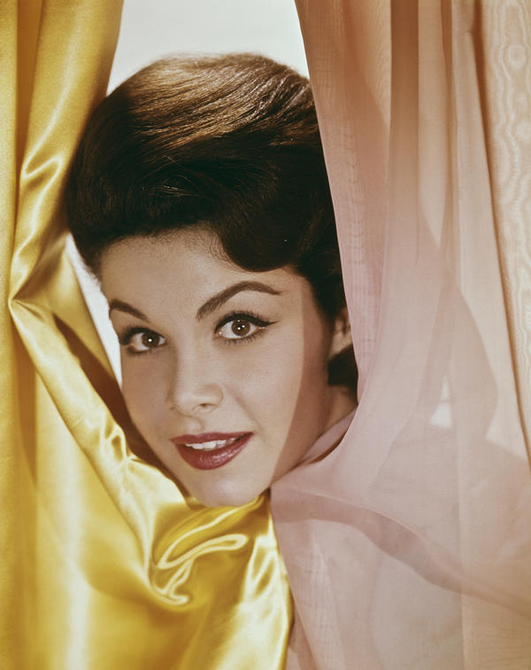 The American actress and singer Annette Funicello, photographed here circa 1960, died April 8, more than two decades after being diagnosed with multiple sclerosis.