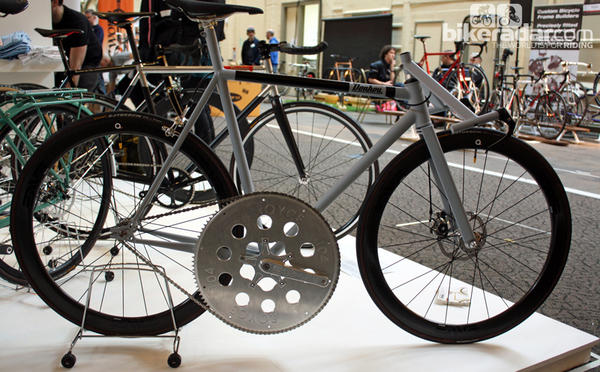 "A bicycle built by British firm Donhou was created with the goal of hitting high speeds,€"" perhaps including 100 mph."