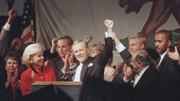 Republicans celebrated when California Gov. Pete Wilson was re-elected in 1994. But his divisive campaign led to a backlash, especially among the growing Latino population in the state.