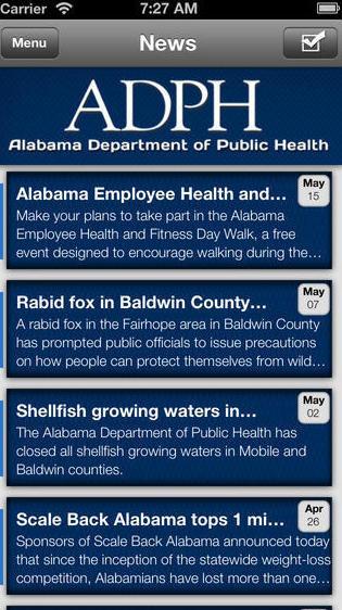 Alabama health news, beamed to your phone.