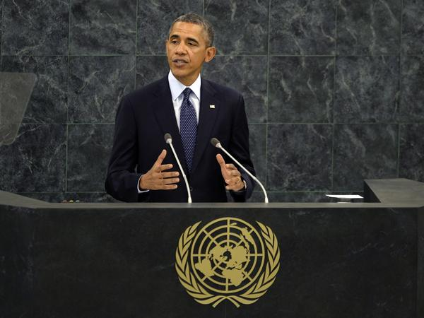 President Obama addresses the 68th session of the United Nations General Assembly at the United Nations in New York.