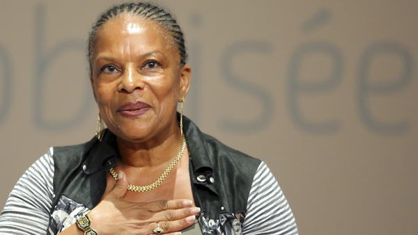 """French Justice Minister Christiane Taubira has been the object of several racist taunts since she defended the government's gay marriage bill in parliament this spring. She is shown here at the Socialist Party's """"Universite d'ete"""" in La Rochelle, in August."""