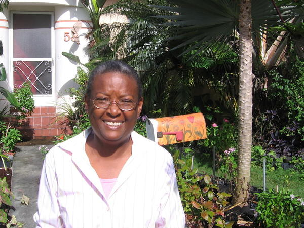 Hermine Ricketts says she gardens for the food and for the peace it brings her.
