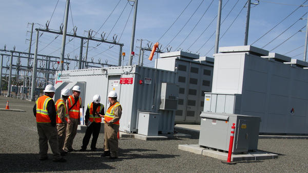 PG&E, a Northern California utility company, is already experimenting with big batteries to store wind-generated electricity at its Vaca-Dixon Substation.
