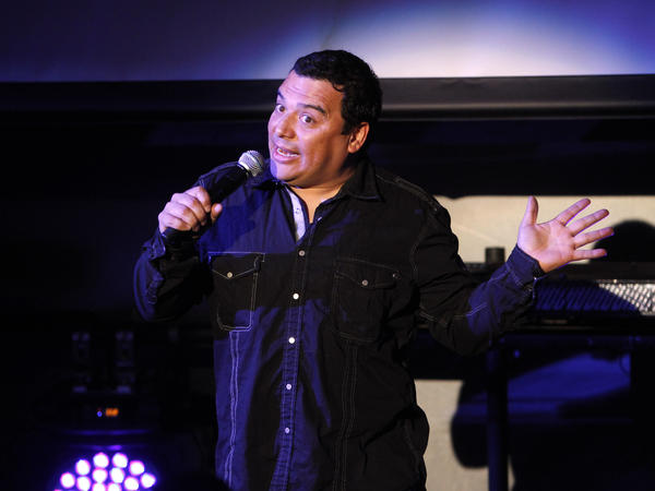 Comedian Carlos Mencia performs during the Tr3s: MTV, Música y Más Upfront in May 2010.