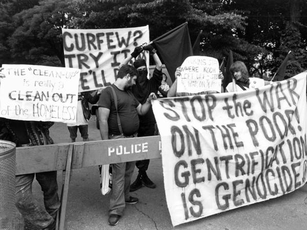 A 1988 riot in Tompkins Square Park in New York's East Village helped bring the concept of gentrification to the fore in the U.S.