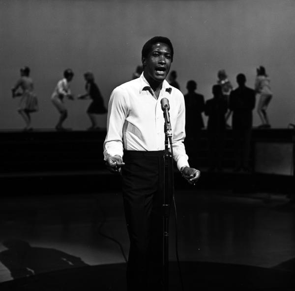 Sam Cooke in 1964, performing on the ABC variety show <em>Shindig!</em> just a few months before his death that December.