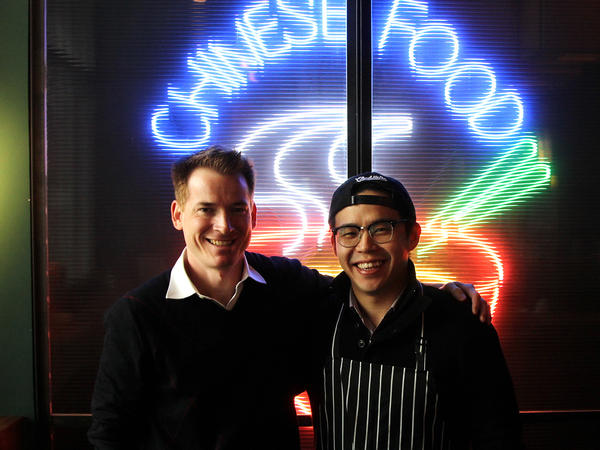 American entrepreneurs David Rossi (left) and Fung Lam co-own Fortune Cookie, a new Shanghai restaurant that serves Chinatown cuisine.