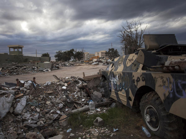 Dictator Moammar Gadhafi and his main military barracks were once situated in the Bab al-Aziziya compound in Tripoli, Libya.