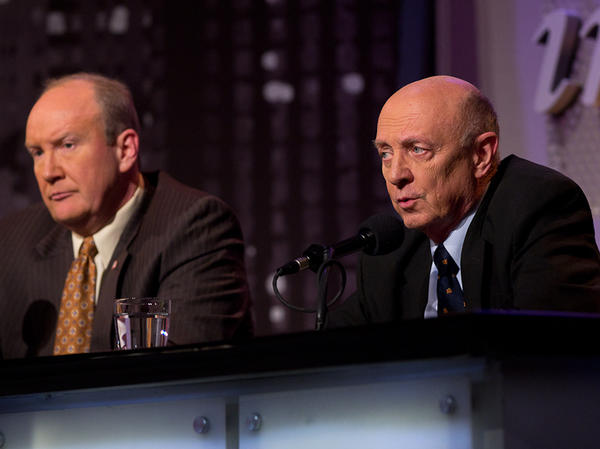 Amb. R. James Woolsey (right) and Andrew C. McCarthy argue that the material leaked by Edward Snowden has put U.S. national security at risk.