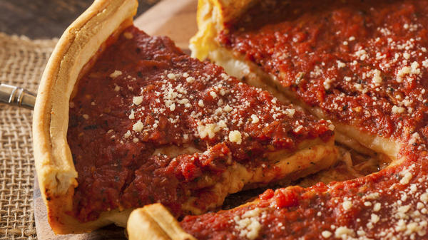 "Comedy Central's Jon Stewart has called Chicago-style pizza ""tomato soup in a bread bowl."""