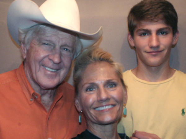 Dean Smith with wife Debby and son Finis at an interview with StoryCorps.