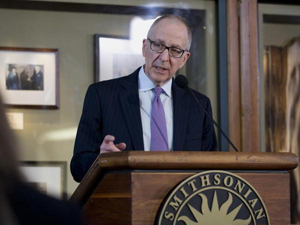 Cornell University President David Skorton speaks during a news conference Monday in Washington, D.C.