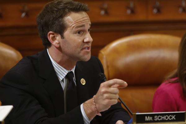 Rep. Aaron Schock, R-Ill., is pictured on Capitol Hill in Washington, June 4, 2013. (Charles Dharapak/AP)