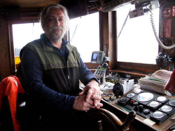David Janka uses his boat for private charters. Many of his clients are scientists studying the spill's impact.