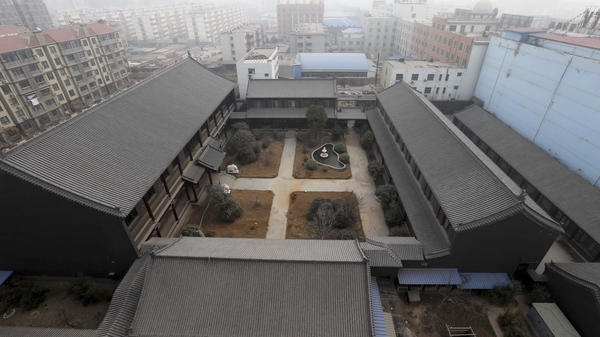 An unfinished residence which belongs to former PLA Gen.  Gu Junshan is pictured in Puyang, Henan province, in January.