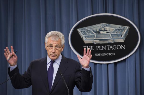 U.S. Secretary of Defense Chuck Hagel (shown here March 31) wants to cut the Army to about 450,000 troops. At the end of 2012, active duty soldiers numbered 550,763.