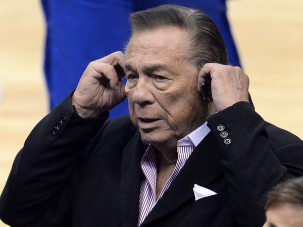 Los Angeles Clippers owner Donald Sterling attends the NBA playoff game between the Clippers and the Golden State Warriors on April 21.