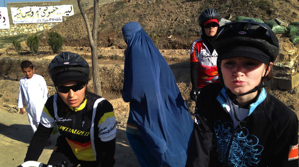In a country where most women still wear <em>burqas</em> and in many areas aren't allowed to drive or even leave the house without a male relative, female cyclists such as Marjan Sadeqi (left) and Nazifa (who gave only one name) are turning heads.