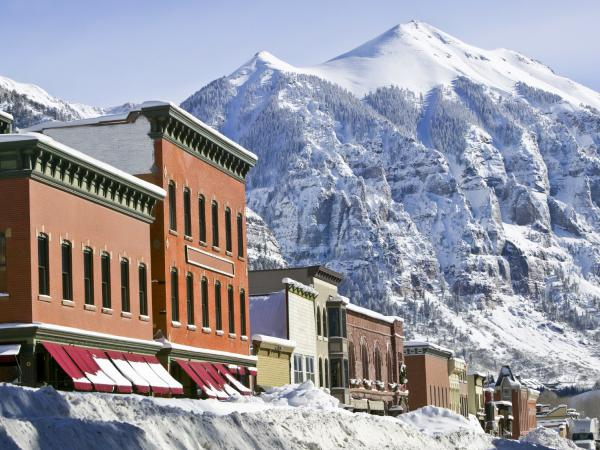 Telluride, Colo., where the mountains, powder and insurance rates are all high.