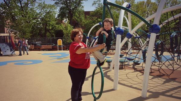 Rep. Linda Sanchez, seen with her son, Joaquin, says balancing her duties as a mother and a member of Congress can be a struggle, but she's lucky to have the flexibility of being a boss.