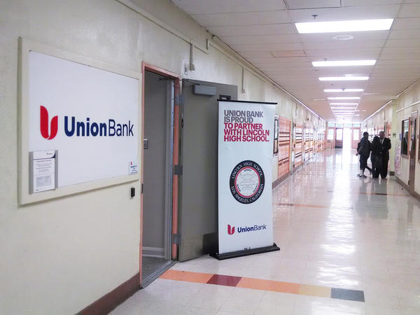 At a student-run Union Bank branch located inside Lincoln High School in Los Angeles, Calif., students can build credit and learn about finances with their real money.
