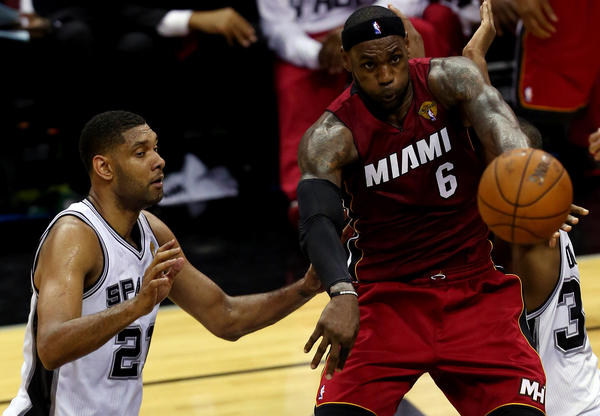LeBron James and the Miami Heat couldn't handle the heat in San Antonio, as Tim Duncan and the Spurs took the first game of  the 2014 NBA Finals. The air conditioning in the Spurs arena didn't work during the game.