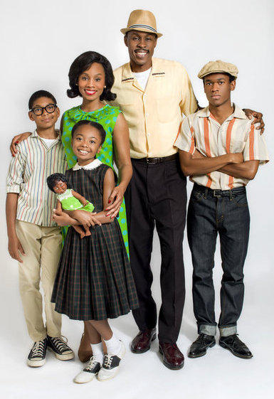 <em>The Watsons Go to Birmingham</em> features a black family from Flint, Mich., on a road trip to Birmingham, Ala. (from left, Bryce Clyde Jenkins, Skai Jackson, Anika Noni Rose, Wood Harris and Harrison Knight).