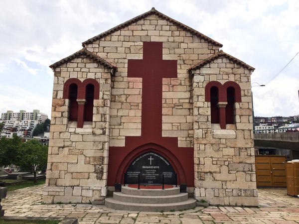 "Along with his co-conspirators, Princip is buried in this chapel outside Sarajevo. The chapel includes a citation from a Montenegrin poet: ""Blessed is he who lives forever. He had something to be born for."""