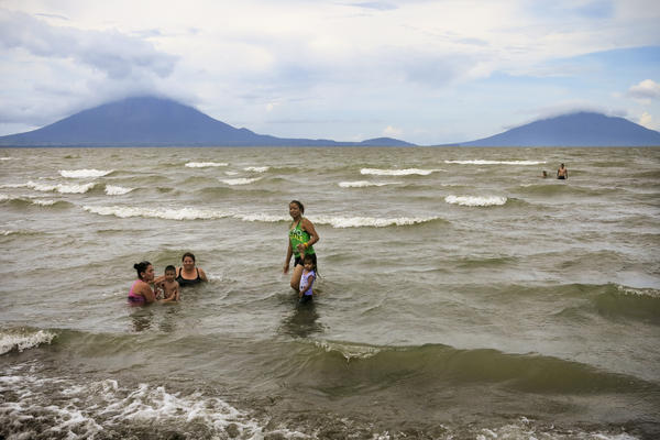 A family swims in Lake Nicaragua, which will encompass nearly half of the proposed canal's 172-mile route. Environmentalists worry that oil spills, pollution and dredging will destroy the country's largest supply of fresh water.