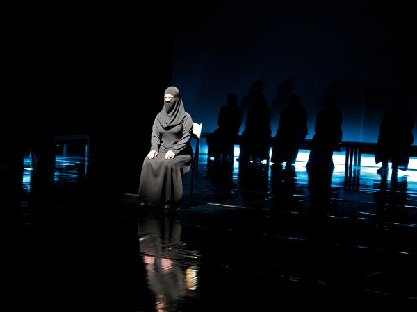 <em>Syria: The Trojan Women </em>inserts current events into an ancient Greek tragedy, performed here in Amman, Jordan, in 2013.