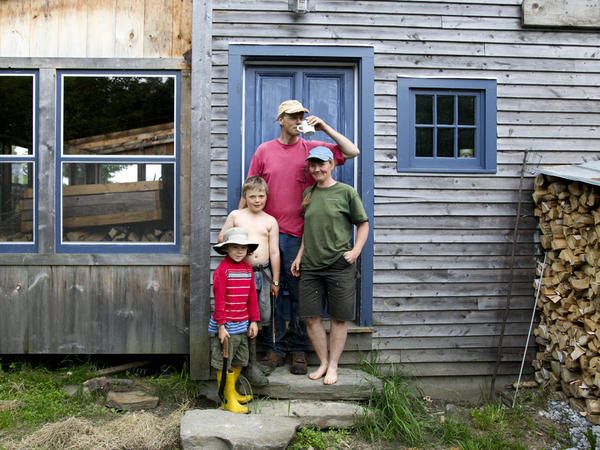 The Hewitt family at home in Vermont.