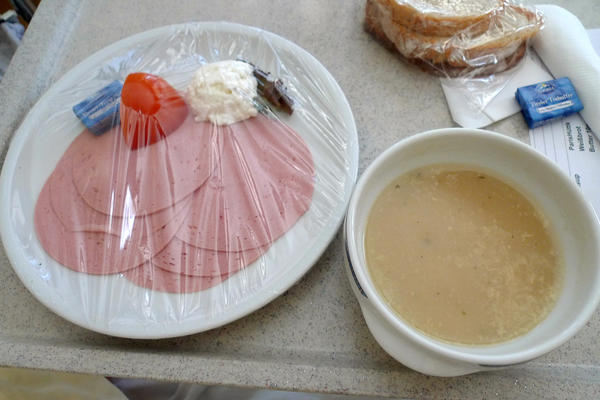 "<strong>Austria: </strong>""I think I actually got depressed from how bad it was,"" Flickr user girl_onthe_les said about this hospital lunch served up in Austria in 2012. Us too."