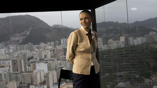"Marina Silva, shown here in Rio de Janeiro on Wednesday, is tied in polls with incumbent President Dilma Rousseff. Silva, the candidate for Brazil's Socialist Party, says if elected next month, she would be ""the first social environmentalist president."""