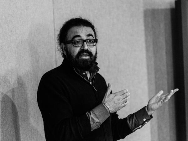 Microsoft's Gurdeep Singh Pall spoke with reporters last week at the company headquarters in Redmond, Wash. He explained how Microsoft would analyze data to figure out a user's priorities.