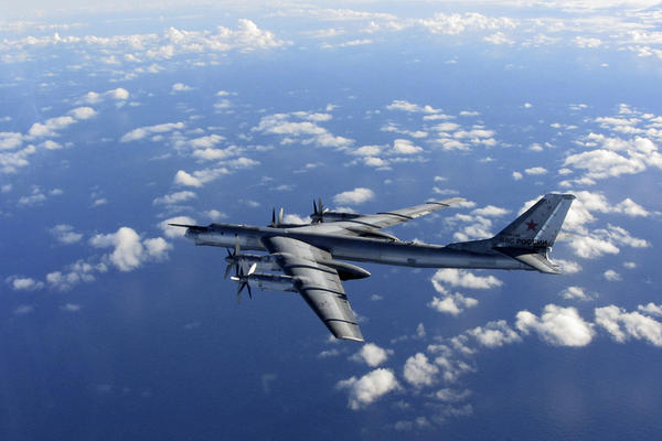 NATO has reported a spike in Russian military activity at sea and in NATO and other western European countries' airspace as tensions have mounted over Ukraine. Here, a Russian military long-range bomber aircraft flies in international airspace on Oct. 29.
