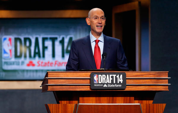 Commissioner Adam Silver commences the 2014 NBA Draft at Barclays Center on June 26, 2014 in Brooklyn. (Mike Stobe/Getty Images)