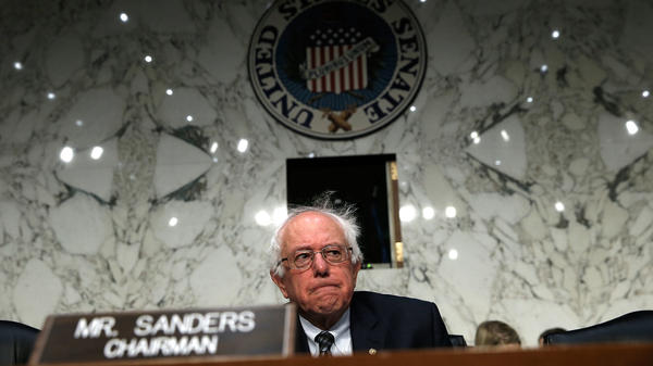 "Sen. Bernie Sanders, an independent, says ""the average person is working longer hours, lower wages, and they do not see any political party standing up and fighting for their rights."""