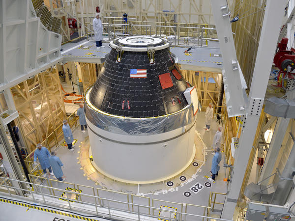 The Orion test capsule will not have life support, but it will check many other systems, including computers and parachutes and the heat shield.