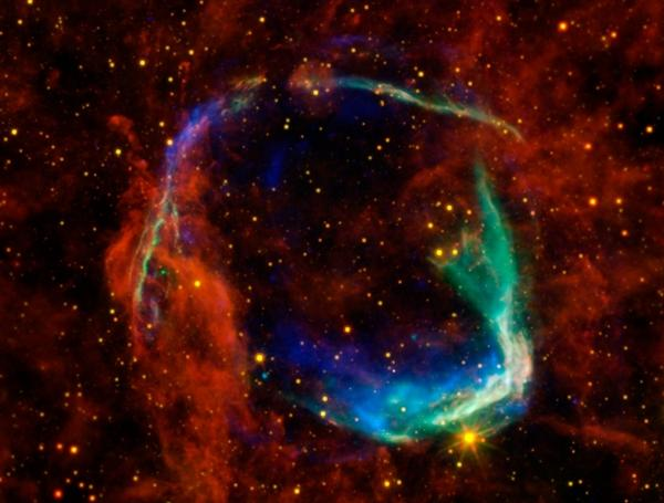 """A blast from the past: Using data from four telescopes, <a href=""""http://www.nasa.gov/multimedia/imagegallery/image_feature_2173.html#.VHzIM9LF-E5"""">NASA created this image</a> of the first documented sighting of a supernova, made by Chinese astronomers in 185 A.D."""