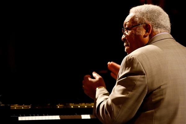Ellis Marsalis performs at the NBA All-Star Game in 2008 in New Orleans.