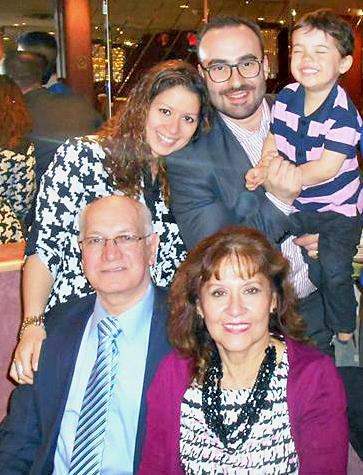 Three generations under one roof: Grandparents Lizandro and Elizabeth Limongi (front) live in Queens, N.Y., with their daughter Diana Limongi Gabriele and son-in-law Ludovic Gabriele and toddler grandson Enzo.