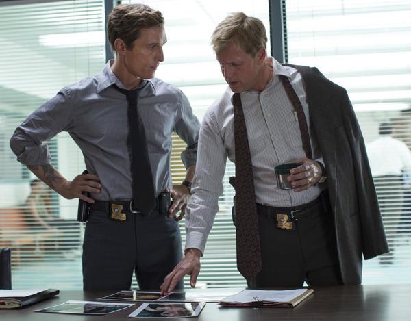 Matthew McConaughey and Woody Harrelson star in HBO's <em>True Detective</em>.