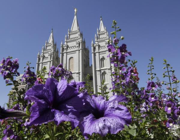 Utah claimed the top volunteering spot for the ninth time in a row, and religious organizations, particularly Mormons, make up about a third of the hours donated. September file photo shows the Salt Lake Temple in Temple Square in Salt Lake City. (Rick Bowmer, AP)