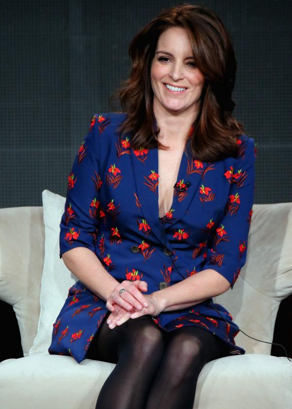Tina Fey speaks at the Television Critics Association's winter press tour Wednesday in Pasadena, Calif.