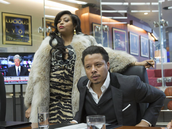 Taraji P. Henson, left, and Terrence Howard star as Cookie and Lucious Lyon in the Fox TV show <em>Empire</em>.