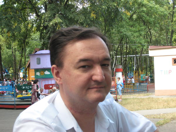 Sergei Magnitsky, shown in 2008, was Browder's attorney. He investigated a 2007 incident in which Russian law enforcement officers raided Browder's offices and stole $230 million in taxes that Browder's companies had paid to the Russian government. He was arrested, tortured and, in 2009, beaten to death by eight guards in full riot gear.